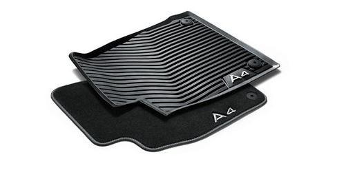 Allwetterfußmatten 2er Satz vorn, schwarz, für Audi A4