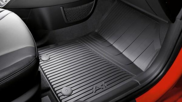 Audi A1 Gummifußmatten, für vorne, schwarz