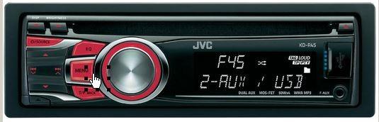 Autoradio JVC schwarz