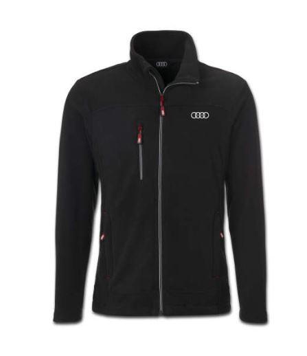 Audi Fleecejacke, Herren, schwarz