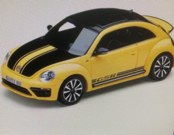 Modellauto, Beetle GSR, sunflower
