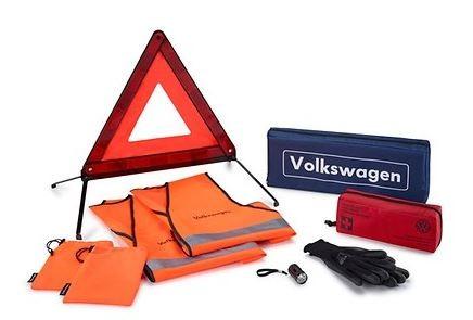 Sicherheitspaket Pannenhilfe mit 2 Warnwesten, Handschuhe und LED Taschenlampe