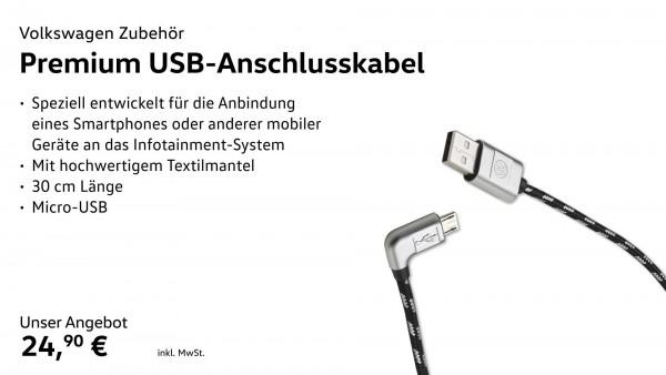Anschlusskabel USB-A auf Micro-USB, Premium