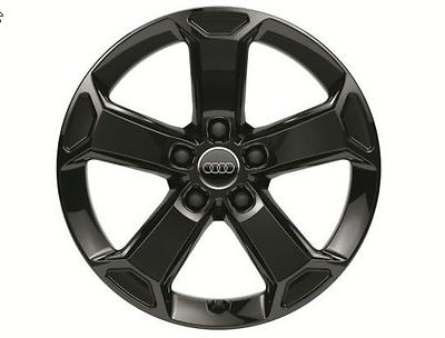 Audi Q2 Winterkomplettradsatz im 5-Arm-Latus-Design, schwarz glänzend, 7 J x 17, 215/55 R 17 94V