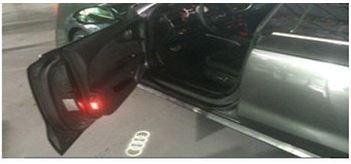 Einstiegs-LED, Audi Ringe Für Fahrzeuge mit serienmäßiger Einstiegsbeleuchtung LED. Logo: Au