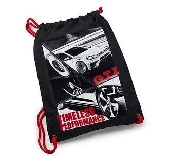 Turnbeutel GTI Fotodruck, schwarz