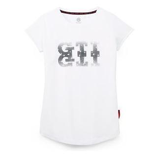 T-Shirt XS, Damen, Weiss, GTI Kollektion