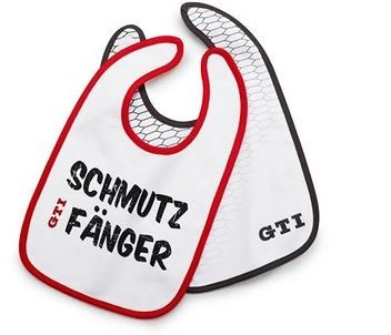 """GTI Baby-Lätzchen """"Schmutzfänger"""", Rot/Grau/Weiß"""