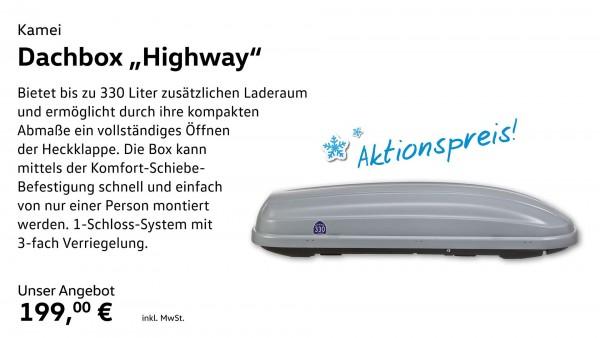 "Dachbox ""Highway- 330 L. - rechts öffnend"