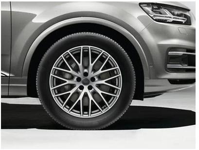 Audi Q7 Winterkomplettradsatz im 10-Y-Speichen-Design, Galvanosilber Metallic, 9 J x 20, 285/45 R 20
