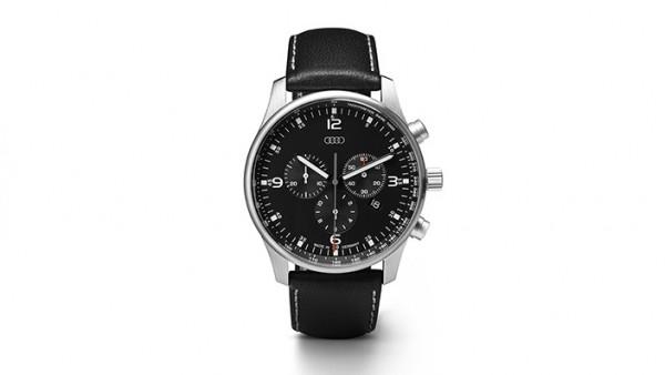 Chronograph, schwarz/silber