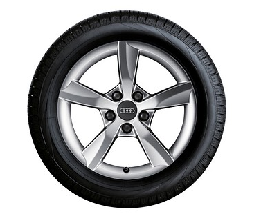 Audi A6 Winterkompletträder im 5-Arm-Rotor-Design, brillantsilber, 7,5 J x 16, 225/60 R 16 98H
