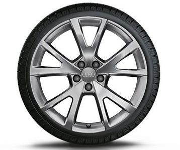 Audi A7 Winterkompletträder im 5-V-Speichen-Design, brillantsilber, 8 J x 19, 235/45 R 19 99V XL