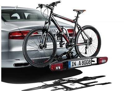 Fahrradträger für die Anhängevorrichtung zusammenklappbar, für Links- und Rechtslenker, für