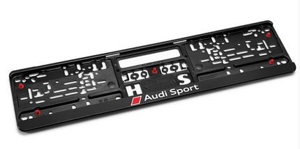 Kennzeichenhalter, Audi Sport