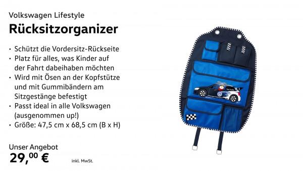 Stautasche Rückenlehne Rücksitzorganizer, Blau,