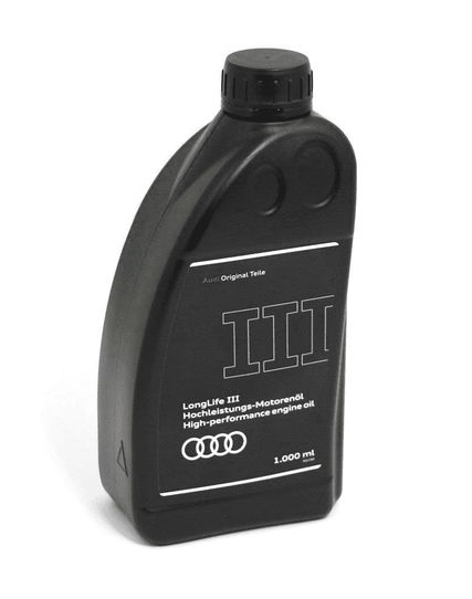 Audi Longlife III Motoröl Original 1 Liter Flasche Ölnorm 50400 50700