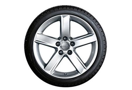 Audi A4 Winterkompletträder im 5-Arm-Design, brillantsilber, 7 J x 16, 205/60 R 16 92H