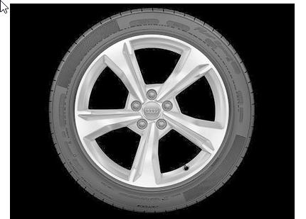 Audi Q5 Winterkomplettrad im 5-Speichen-Dynamik-Design, brillantsilber, 7 J x 19, 235/55 R 19 101H